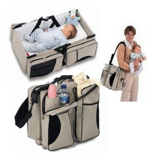 3-in-1 Universal Baby Travel Bag, Portable Bassinet Crib, Changing Station & Diaper Bag
