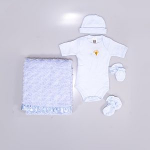 5 in 1 Unisex Baby Clothing Set with Blanket
